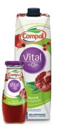 Compal Vital AntiOx: napój portugalski z granatów 200ml i 1l