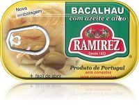 Dorsz po portugalsku (bacalhau) w oliwie z oliwek z czosnkiem 120g - Ramirez